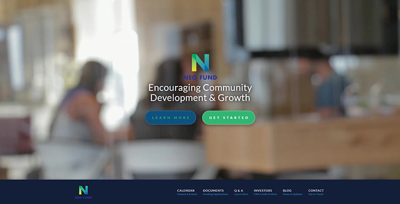 NEO Fund Website Screenshot